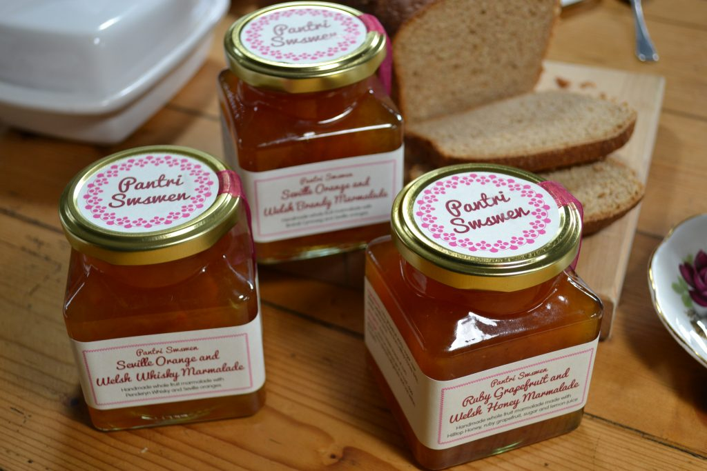 Welsh Brandy, Whiskey and Ruby Grapefruit and Welsh Honey Marmalade ~ Caersws Producer