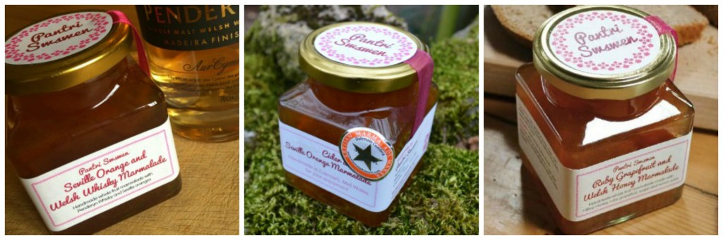 Cider and Seville Orange Marmalade, Ruby Grapefruit and Welsh Wildflower Honey Marmalade, Welsh Brandy Marmalade